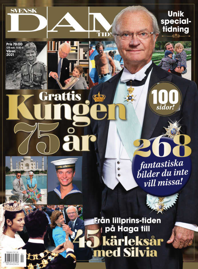 Cover for Kungen 75 år+45-årig bröllopsd