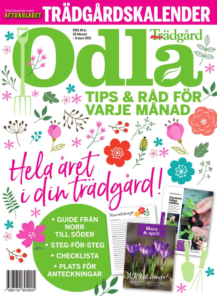 Cover for Odla Trädgårdskalender 2021