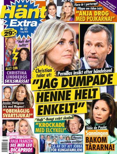 tidningsframsida för Hänt Extra