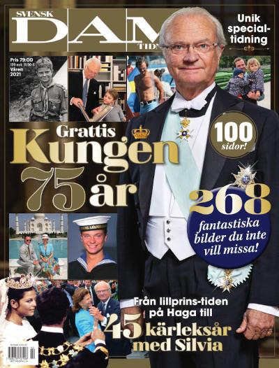 Kungen 75 år cover
