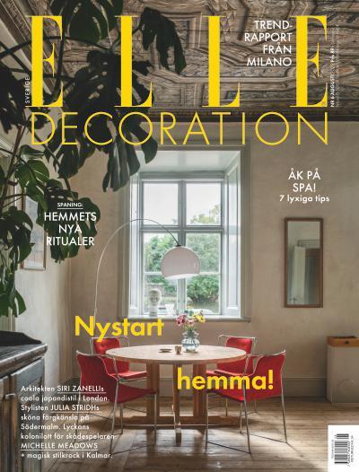 tidningsframsida för ELLE Decoration