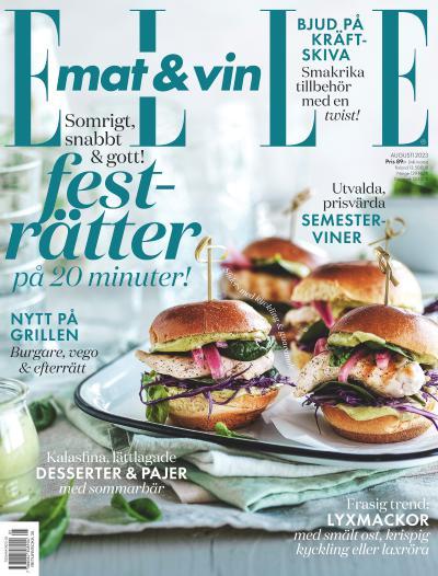 tidningsframsida för ELLE Mat & Vin